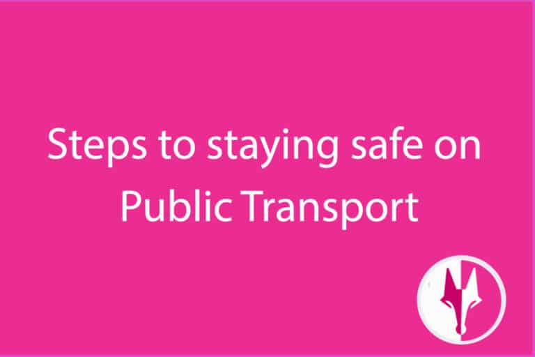 steps to staying safe on public transport