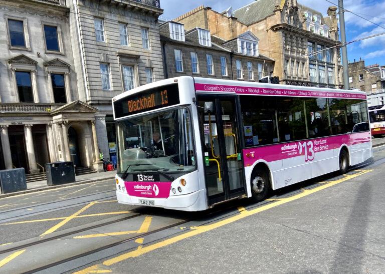 Service 13 bus on Princes Street